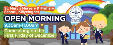 Please visit our school on Friday 6th December 2019 at 9.30am to see our school in action.  You will have the chance to review our facilities, meet our staff and wonderful pupils and to consider St. Mary's Nursery Unit and Primary School as the place for your child's education.